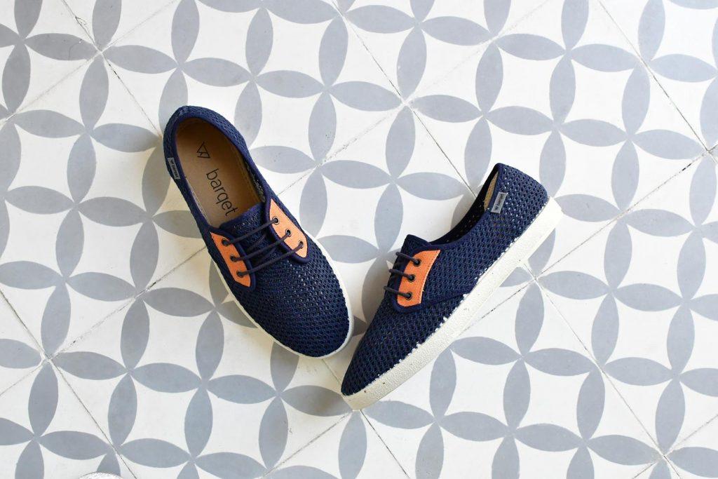 Zapatillas Barqet Dogma Low Rejilla Perforadas Azul Marino Teja Navy Zapatos