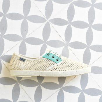Zapatillas Barqet Dogma Low Rejilla Perforadas Beige Verde Zapatos