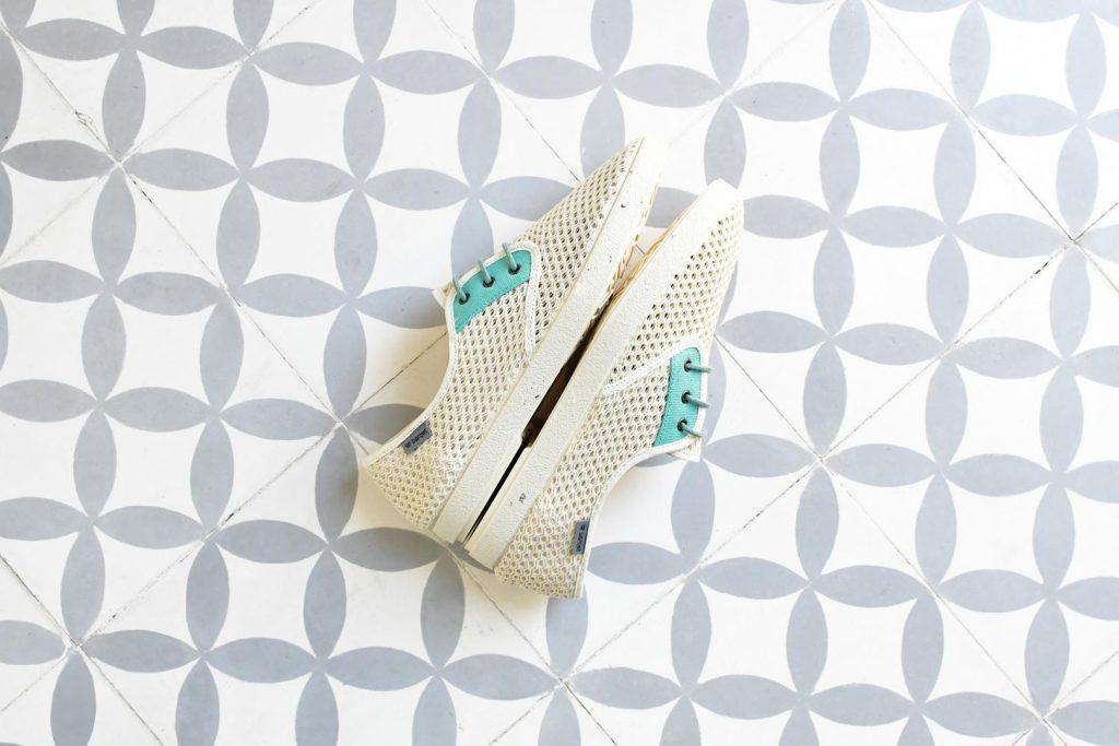 Zapatillas Barqet Dogma Low Rejilla Perforadas Crudo Beige Verde Zapatos