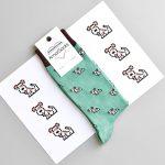 calcetines amorsocks perros perretes socks fondo verde green calcetin