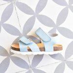 Sandalia Bio Niño/a Velcro Piel Celeste
