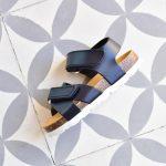Sandalia Bio Niño-a Velcro Piel Marino