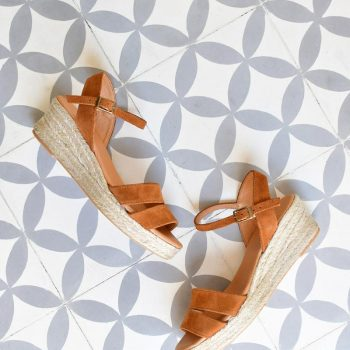 Sandalia Cuña Yute Pölka Shoes Dora Cuero 685P