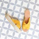 Sandalia Yute Serraje Pölka Shoes Kas Amarillo Mostaza Plataforma 812P