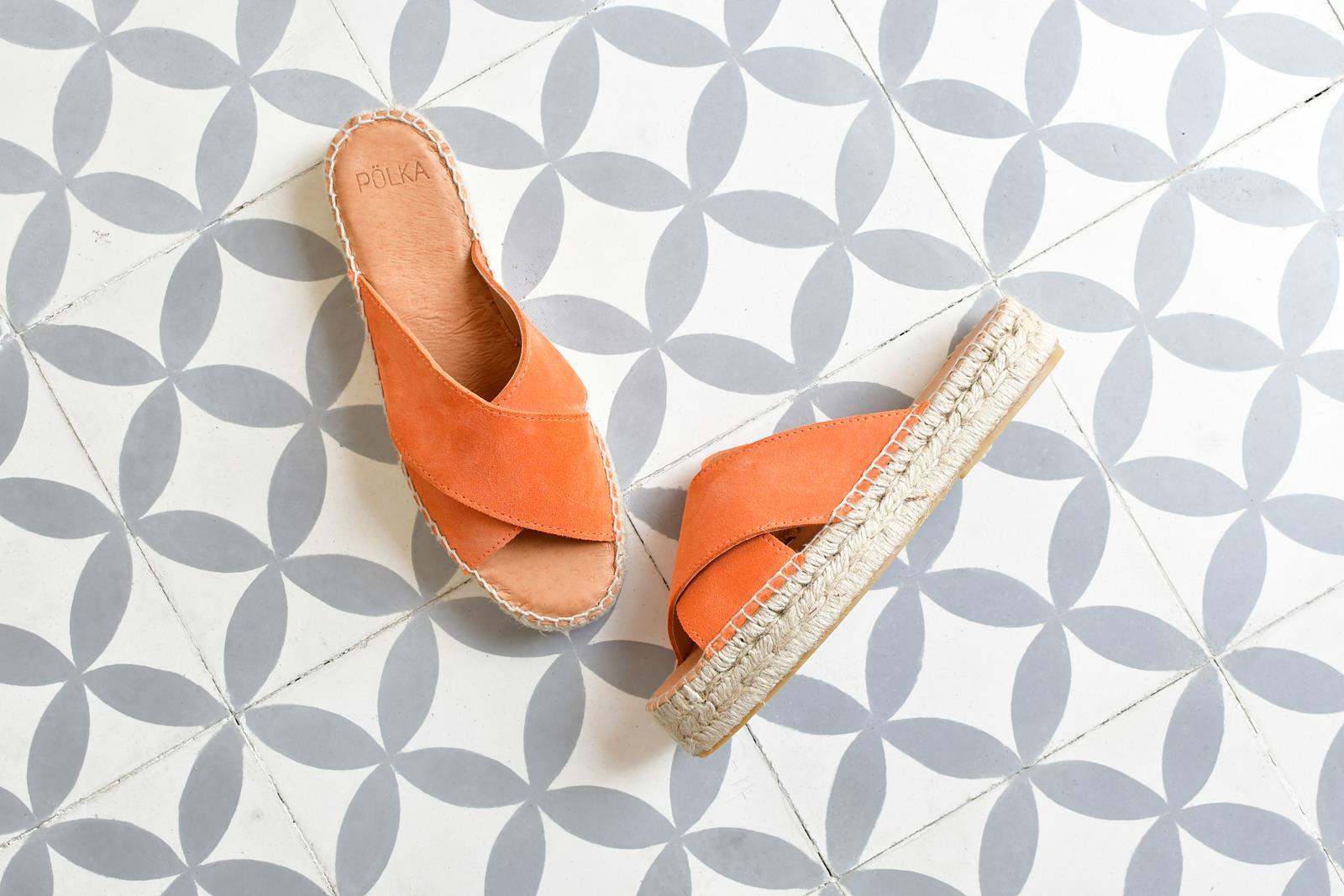 Sandalia Yute Serraje Pölka Shoes Kas Coral Plataforma 812P