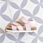 Sandalia Bio Niño/a Velcro Piel Rosa Palo