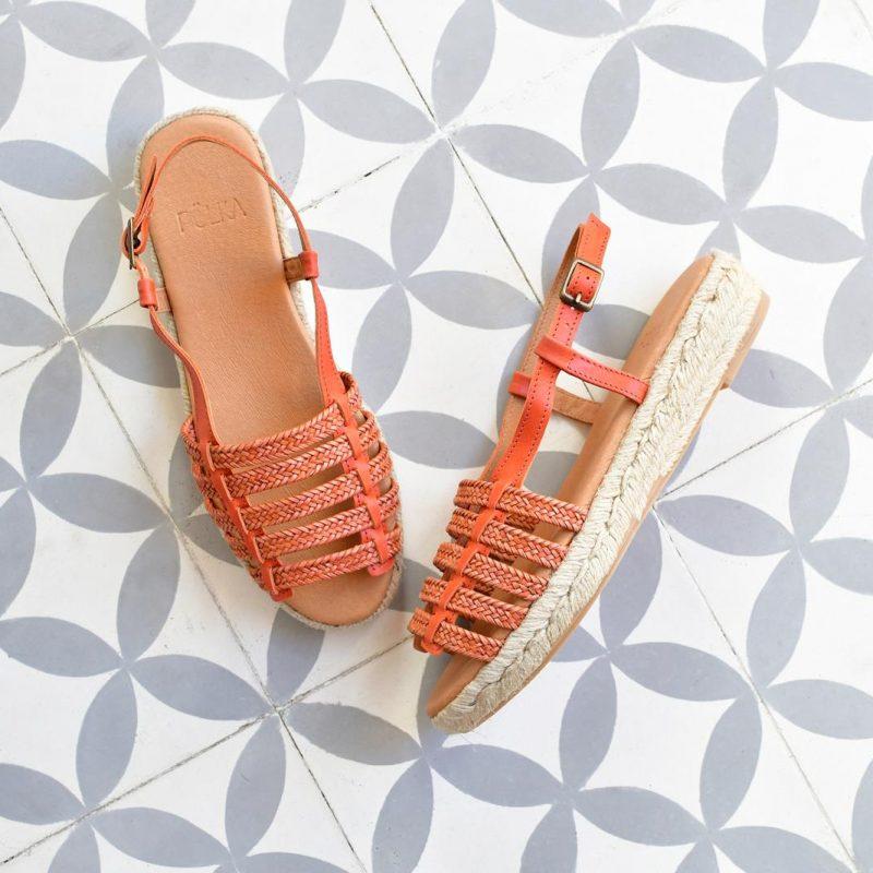 Sandalia Romana Yute Pölka Shoes Juno Coral