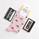 AmorSocks Cassette Pink