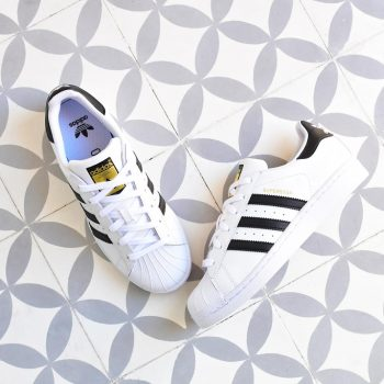 Adidas Superstar Blanco Rayas Negras
