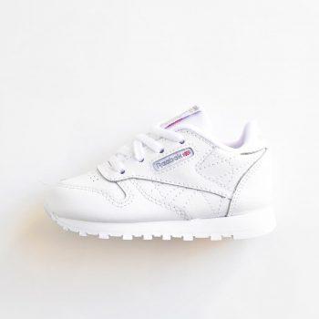 reebok classic leather blanca cordones 50192 bebe