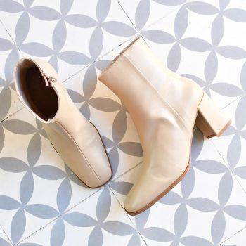Botín Pölka Shoes Leonora Crema