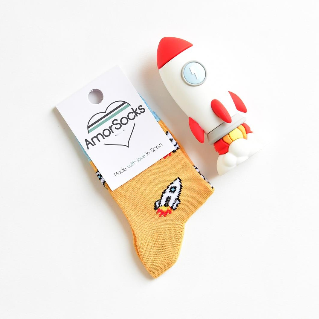 AmorSocks Rocket Mostaza Kids