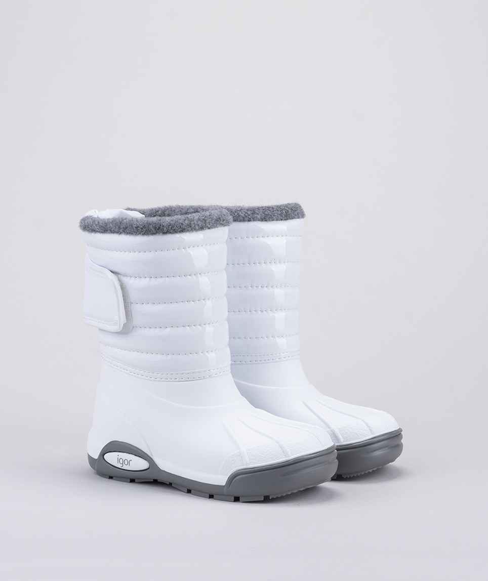 Bota Nieve Igor Ski Charol Blanco