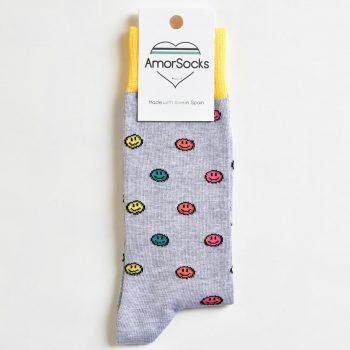 AmorSocks Smiley Grey