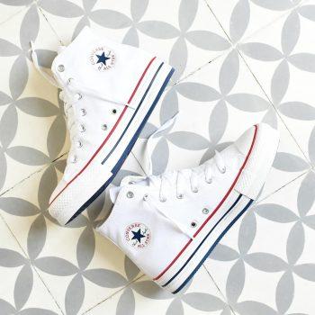 Converse AllStar Plataforma Bota Blanca