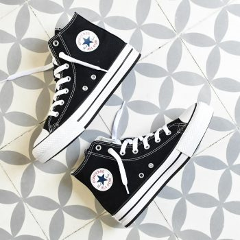 Converse AllStar Plataforma Bota Negra