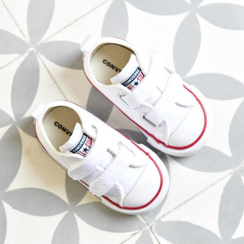 Converse Chuck Taylor AllStar Velcro Blanca Kids