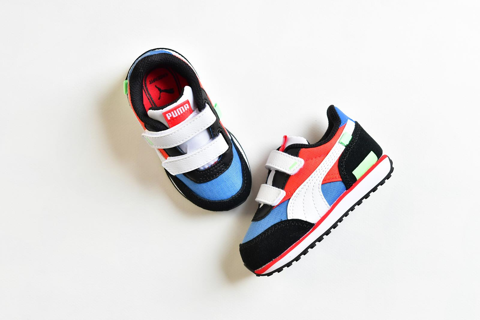 Puma Future Rider Play On kids Velcro Azul y Rojo