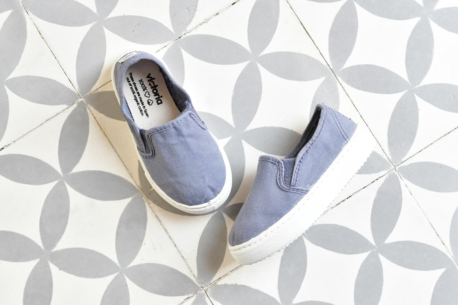 Zapatilla Slip-On Victoria 25025 Azul Kids