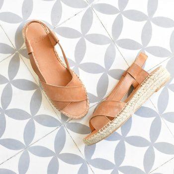 Sandalia Yute Cruzada PölkaShoes Hermes Cuero