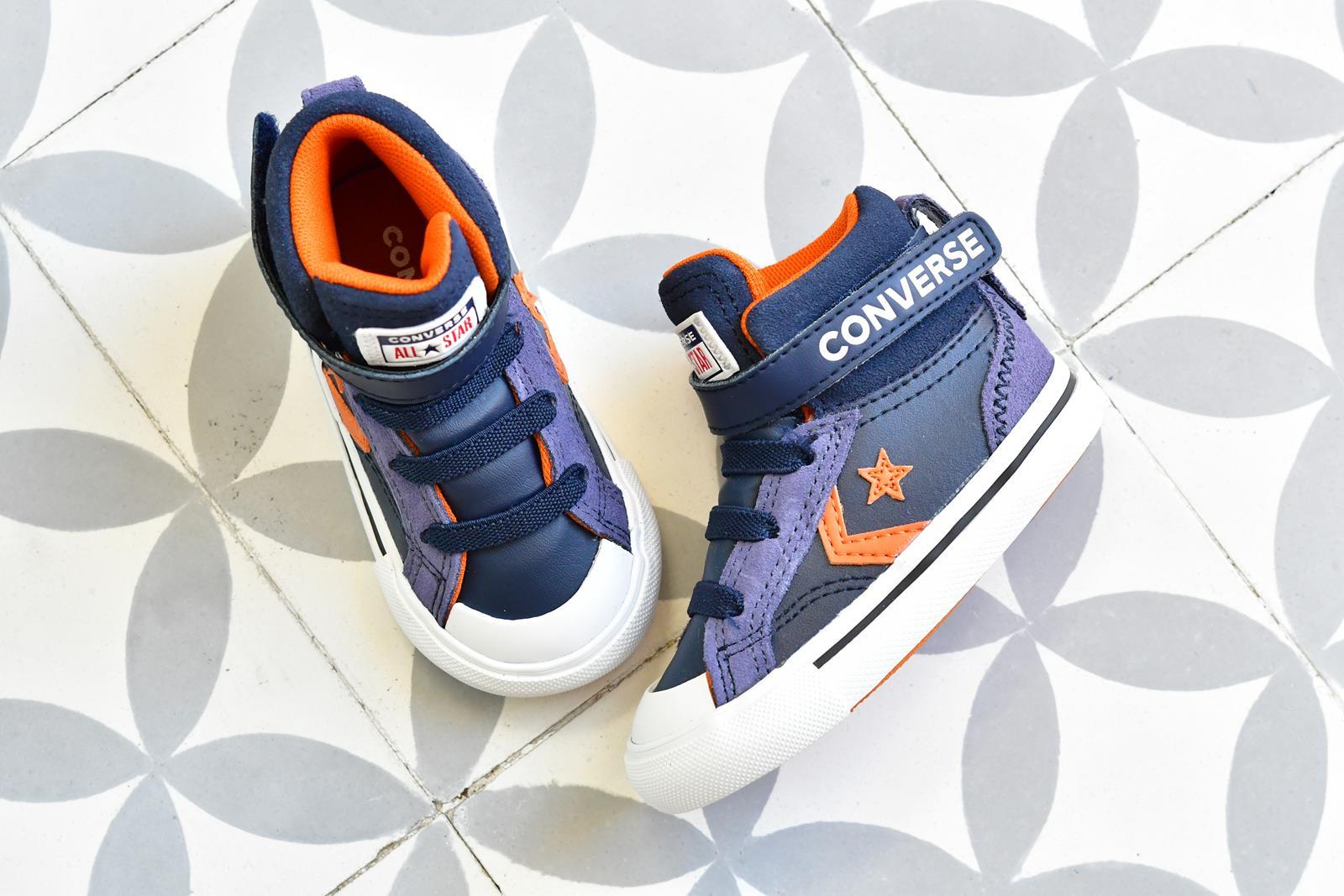 Botín Converse Pro Blaze Piel Azul Velcro Kids INF