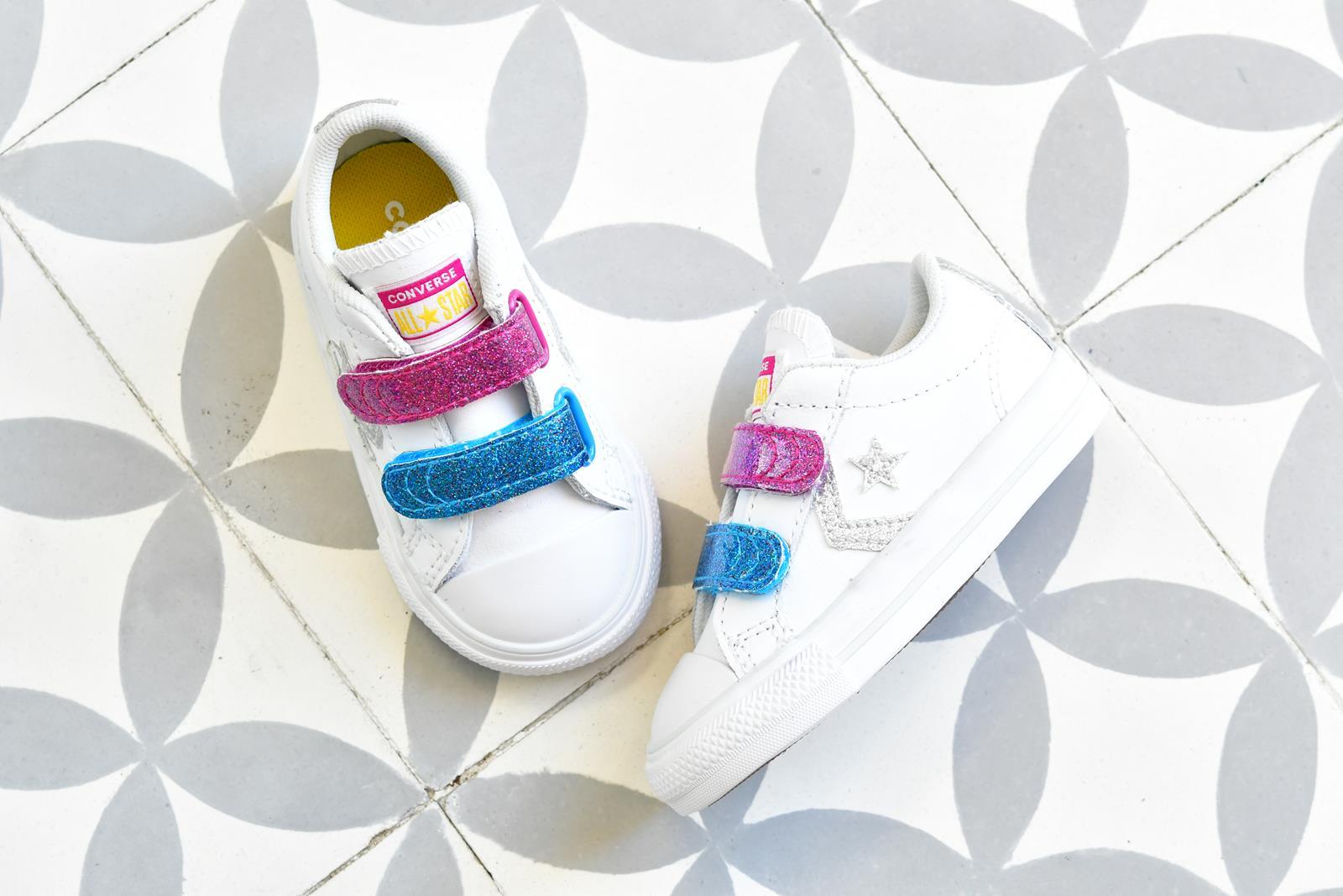 Converse StarPlayer AllStar Piel Velcro Brillantina Kids INF